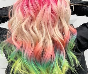 colored hair, hair, and hair color image