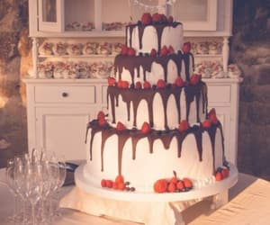 birthday, wedding, and cake image