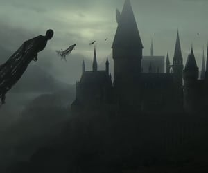 deathly hallows, harry potter, and hogwarts image