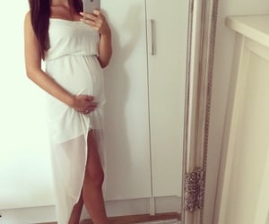 baby, dress, and mom to be image