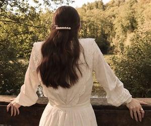 beauty, dress, and pond image