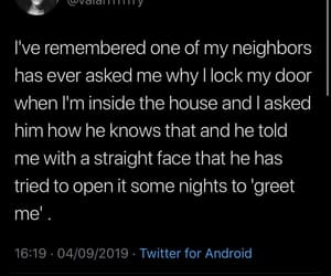straight face, he knows, and crazy neighbor image