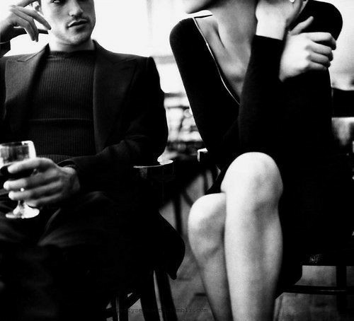 black and white, couple, and sensual image