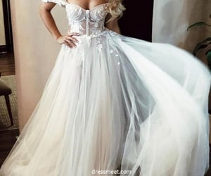 beautiful, wedding dresses, and bridal gown image