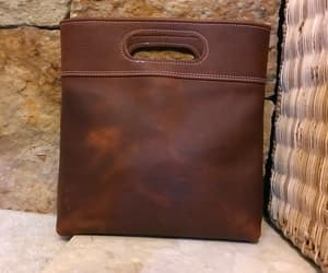 brown leather bag, totes, and etsy image
