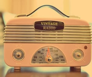 vintage, radio, and pink image