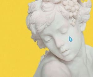 yellow, aesthetic, and statue image