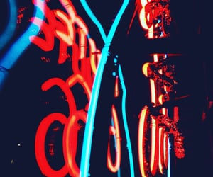 aesthetic and neon lights image