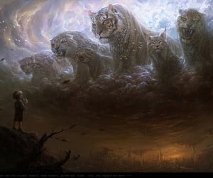 divine, tigers, and fantasy image