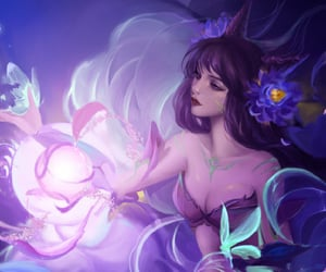 butterlfy, fox girl, and leagueoflegends image