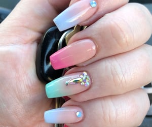 acrylic, pastel, and acrylic nails image
