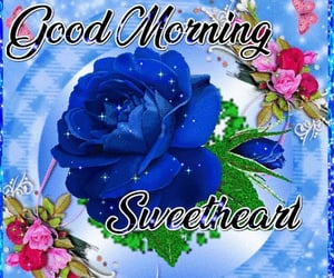 blue, good morning, and sweetheart image