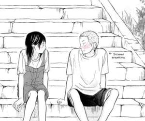 anime, blush, and pink image