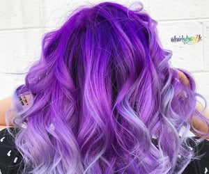 hair and violet hair image