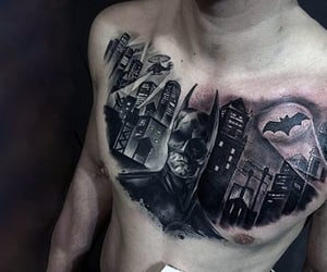 Tattoos, batman tattoo, and bat signal image