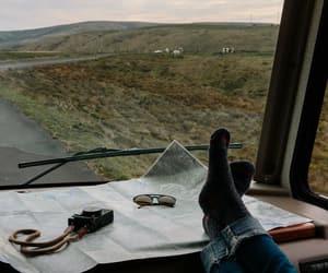 camera, map, and Road Trip image