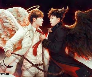 angel, woogyu, and demon image