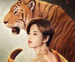fanart, kpop, and tattoo image