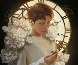 animation, flowers, and clock image