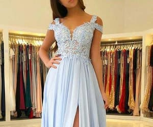 evening dresses, party dress, and lace prom dresses image
