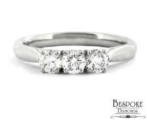 diamond ring, engagement ring, and diamonds image