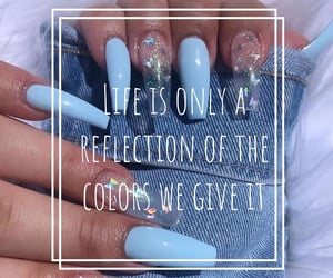 aesthetic, Bleu, and ongles image