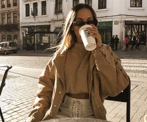 coffee, beige, and fashion image
