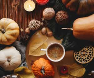 pumpkins, autumn, and candles image