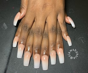 aesthetic, nails, and acrylic nails image