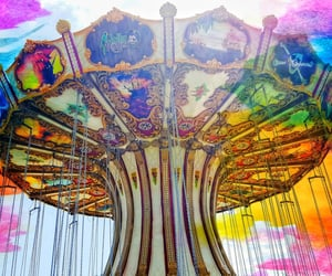 amusement park, color, and summer image