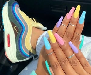 nails, shoes, and style image