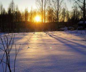 cold, sundown, and sunset image