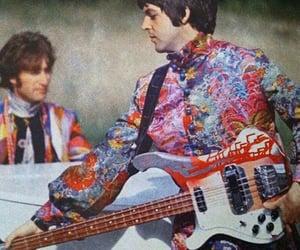 colors, Paul McCartney, and john lennon image