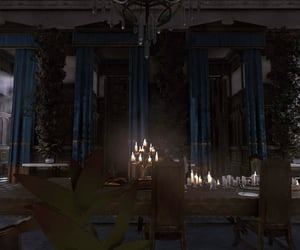blue, flora, and candles image