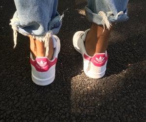 adidas, pink, and carefree image