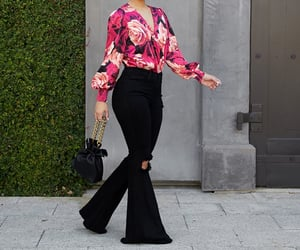 bell bottoms, cute outfit, and cute outfits image