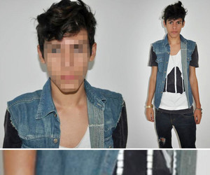 boy, triangle, and lookbook image