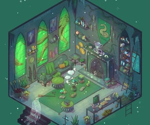 aesthetic, animation, and green image