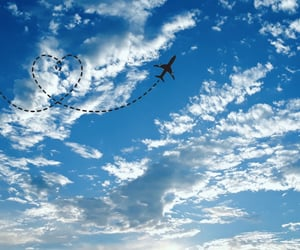 blue sky, love, and fly away image