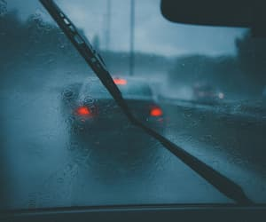 rain and car image