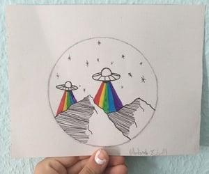 alien, area 51, and rainbow image