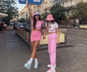 outfits, pink, and aesthetic image