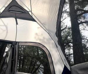 camping, tent, and trees image