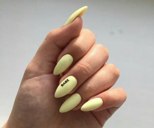 nails, pastel, and yellow image