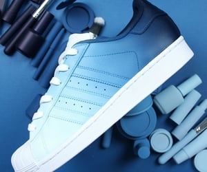 adidas, blue, and dark image