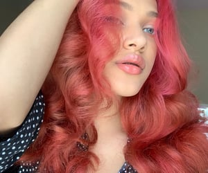 aesthetic, coral, and curls image