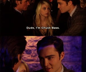 chuck bass, ed westwick, and tv series image