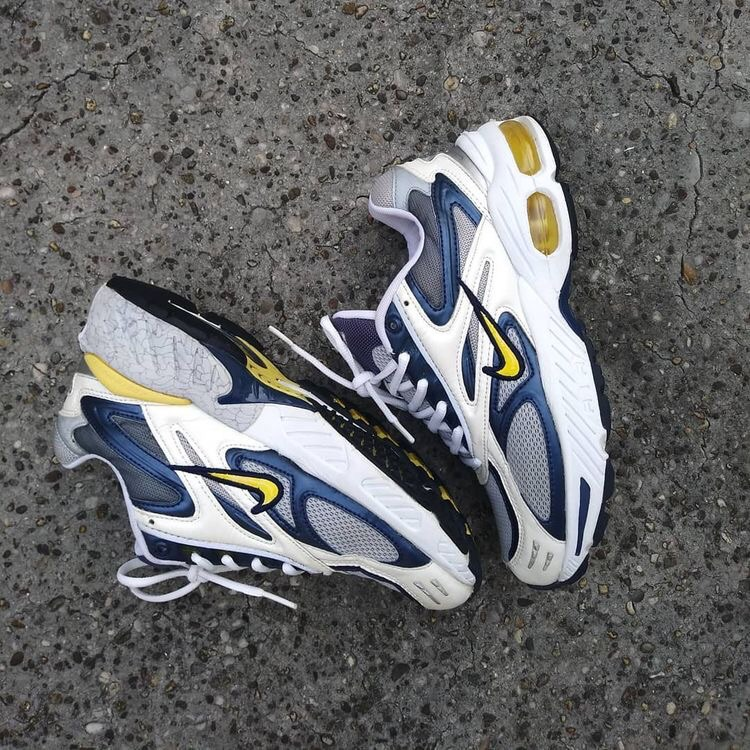 yellow blue white and nike chunky sneakers image