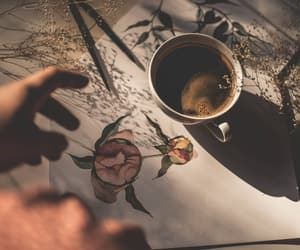 coffee, hand, and cup image