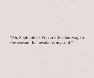 quotes, September, and autumn image